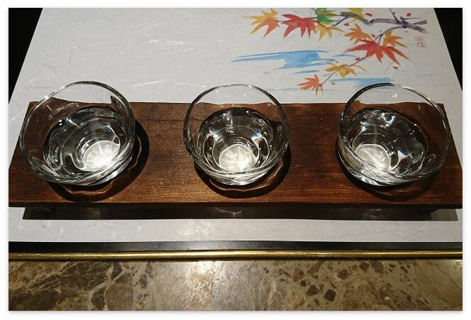 飲み比べ6種類の中から3種類をチョイス