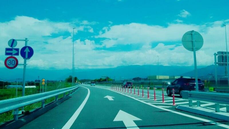 高速道路 インターチェンジでの合流