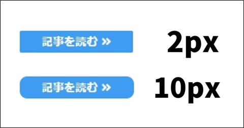 角の丸み 2pxと10px