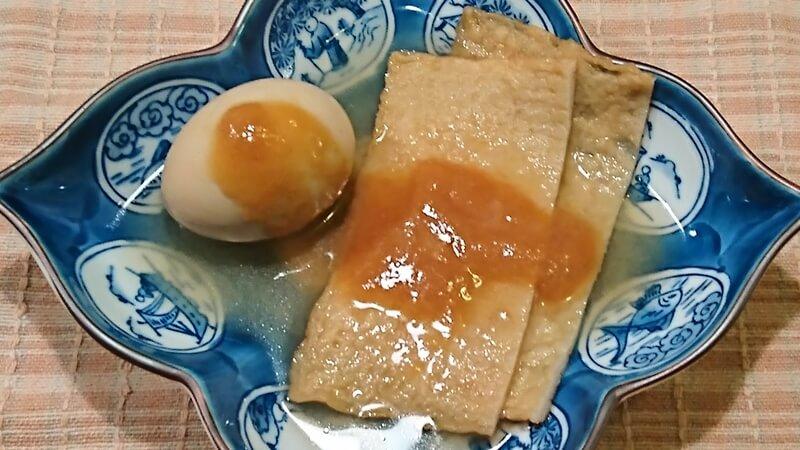 青森おでんの大角天とゆで卵