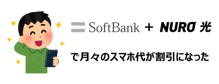 SoftBankのスマホとNURO光で月々のスマホ代が割引になった