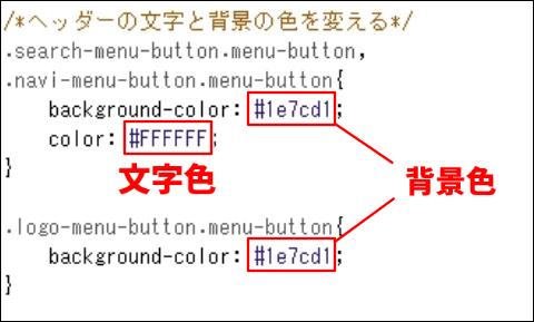 文字色と背景色を変更するCSS