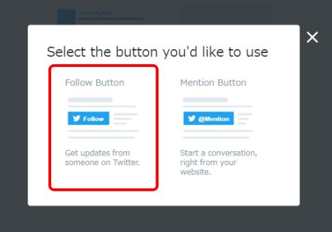 """左の""""Follow Button""""を選択"""