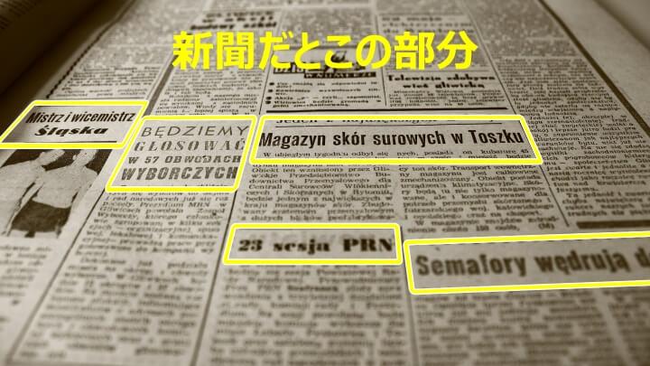 新聞の「見出し」