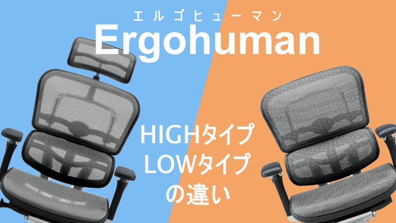 エルゴヒューマン ハイタイプとロータイプの違いは?