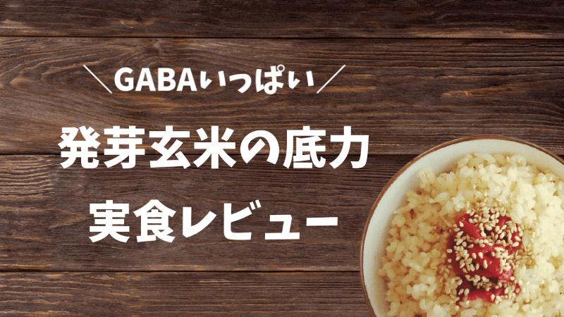 発芽玄米の底力 実食レビュー