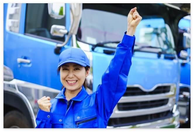 女性トラックドライバー