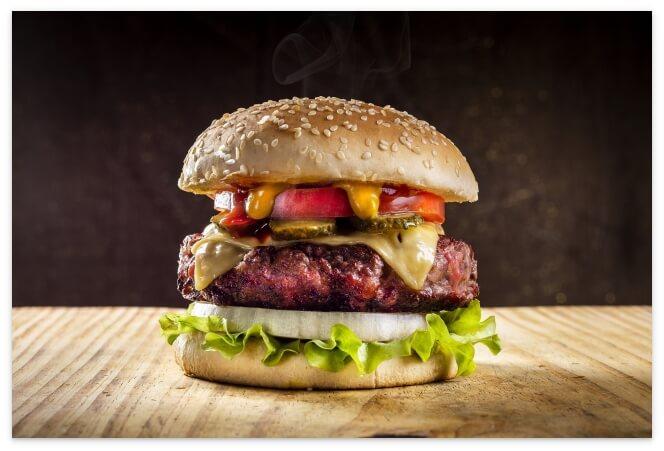 栄養がありそうなハンバーガー
