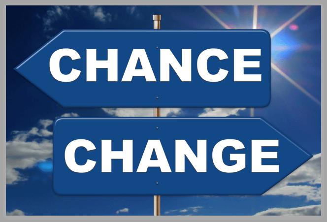 CHANCEとCHANGEの標識
