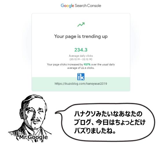 Googleから来たメール
